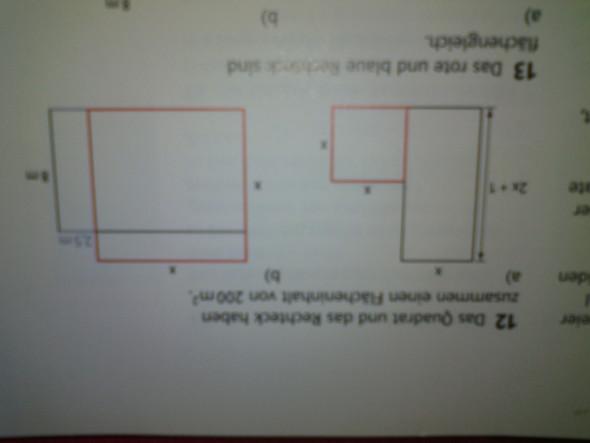 Zusammen Flächeninhalt von ein Quadrat und ein Rechteck - (Mathematik, Quadratische Gleichung)
