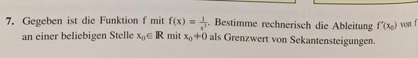 Aufgabe - (Mathematik, Nachhilfe, Ableitung)