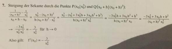 Lösung - (Mathematik, Nachhilfe, Ableitung)