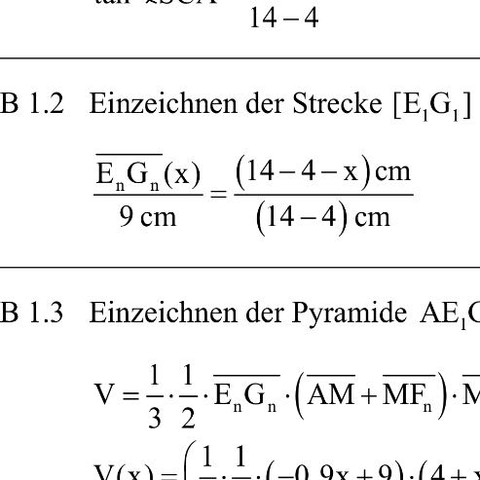 Die Aufgabe 1.2 - (Mathe, Realschule, Bayern)