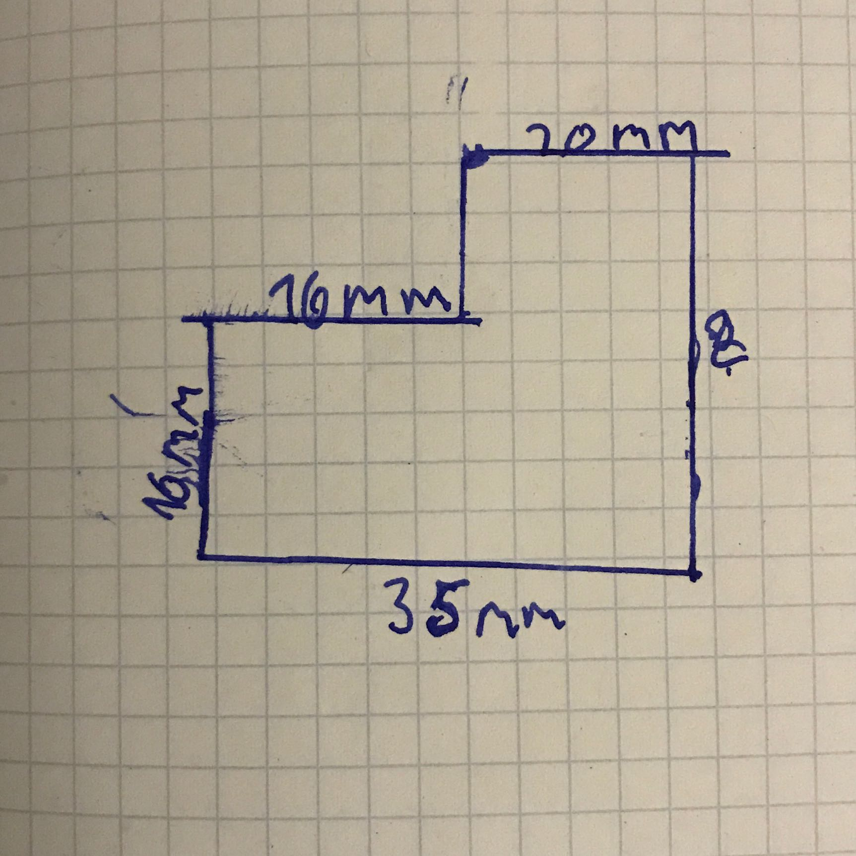 Wie rechnet man das aus?Zusammengesetzte Flächen? (Schule