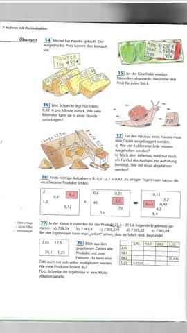 Wie rechnet man Dezimalzahlen mal?