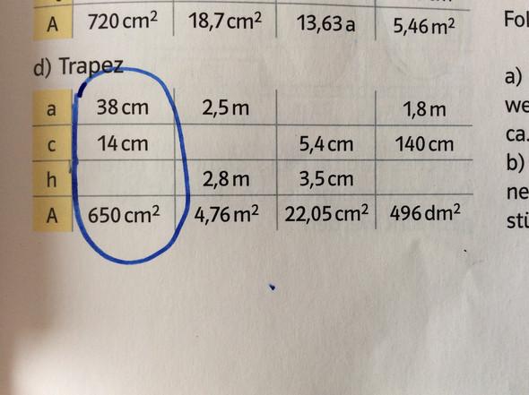 Hier die größenangaben - (Mathe, Trapez)