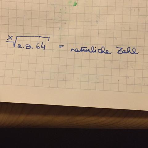 Wie könnte man zum Beispiel die 3-te Wurzel aus 64 ausrechnen 😋 - (Mathematik, Wurzel, Potenzen)