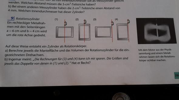 Foto von der Aufgabe - (Mathe, Rechnen, Form)