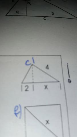 Wie lautet x? - (Mathe, Dreieck, Satz des Pythagoras)