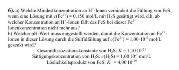 Wie rechnet man diese chemische Aufgabe?