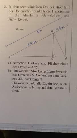 Wie rechnet man diese Geometrische Aufgabe?