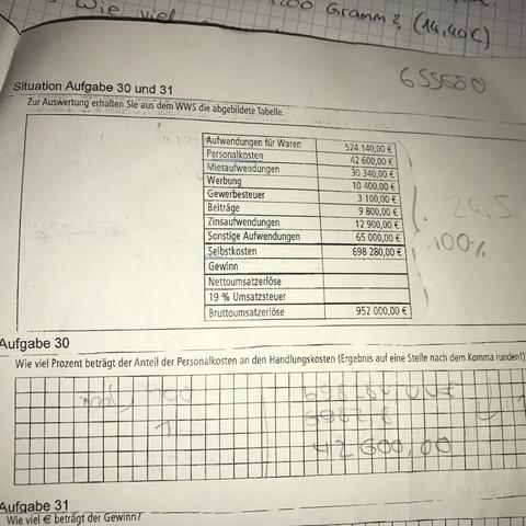 Hier die Aufgabe - (Mathe, Mathematik, Ausbildung)