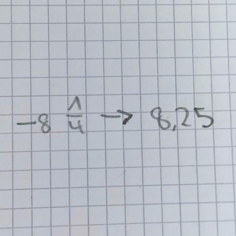 Wie kommt man auf die 8,25? - (Mathe, Bruch)
