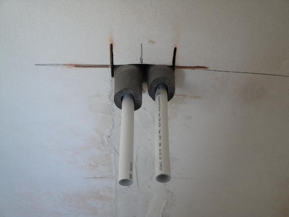 Rohre für Badheizung - (Badezimmer, Badewanne, Rohr)