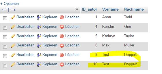 Doppelter Eintrag - (programmieren, IT, PHP)