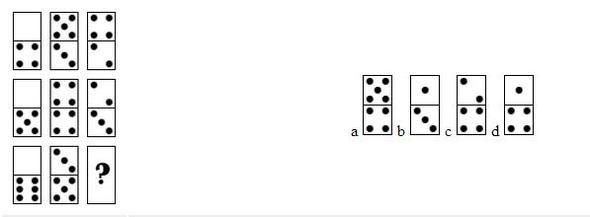 """Wie schafft man es nur dieses """"logische Denken"""" mit den gesuchten Domino Steinen zu meistern (Einstellungstest)?"""
