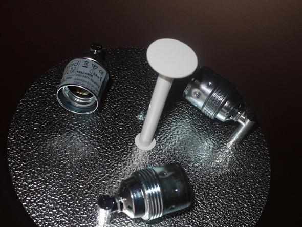 Leuchtmittelanschluss in Leuchte - (Anschluss, Lampe, Stromkabel)