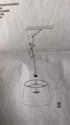 Wie schließe ich diese doppelisolierte einpolige Lampe an?