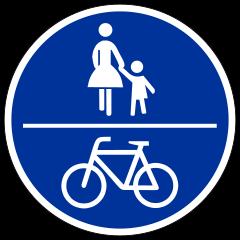 Zeichen 240 - (Fahrrad, Geschwindigkeit, Verkehrsrecht)