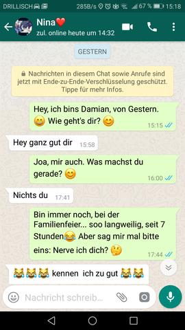 Über whatsapp verliebt