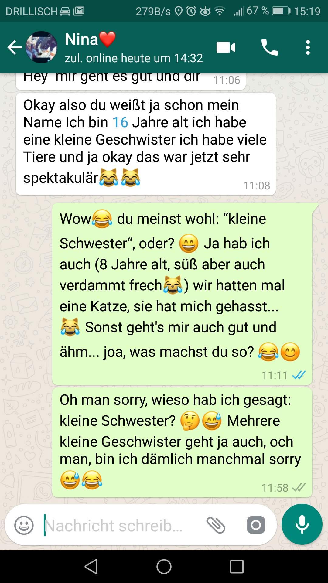 Wie schreibe ich Mädchen bei WhatsApp? (Liebe