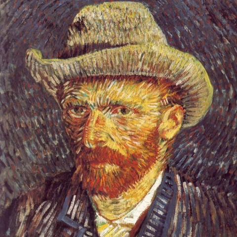 Das ist ein Selbstbildnis von Vincent Van Gogh - (Kunst, Schreiben, Analyse)