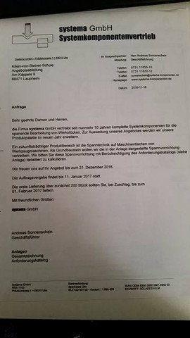 Komlettes Blatt - (Ausbildung, Schreiben, Geschäftsbrief)
