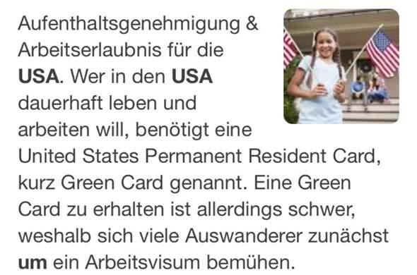 Ist es wirklich so schwer eine GreenCard zu bekommen?