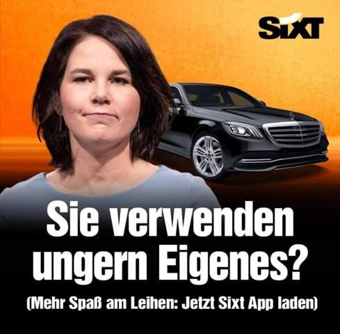 Wie sehr gefällt ihnen die neue Sixt Werbung mit Annalena Baerbock?