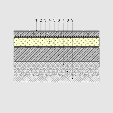 Wie sieht eine Wärmedämmung unter einer Bodenplatte aus?