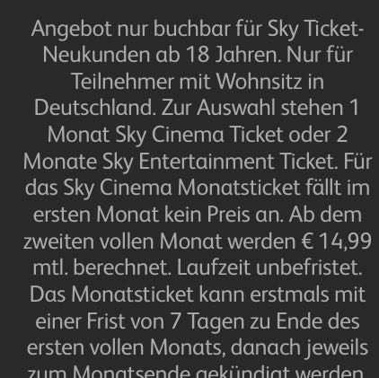 Sky Ticket Kündigung