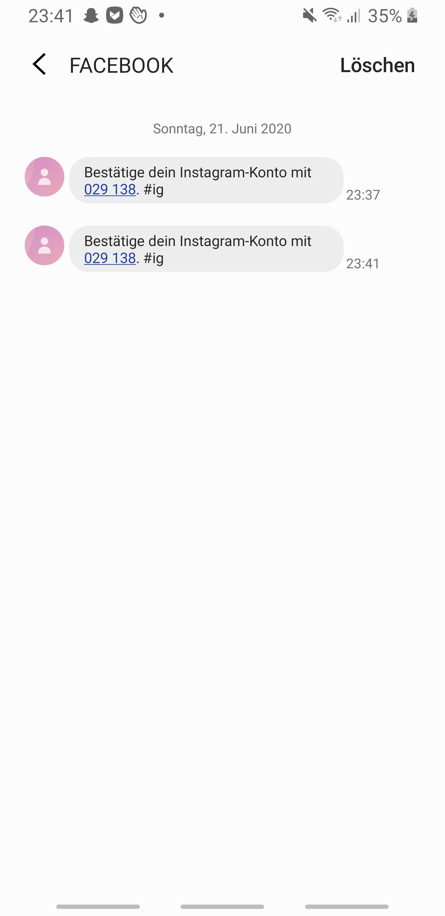Wie soll ich meinen Instagram Account per SMS bestätigen