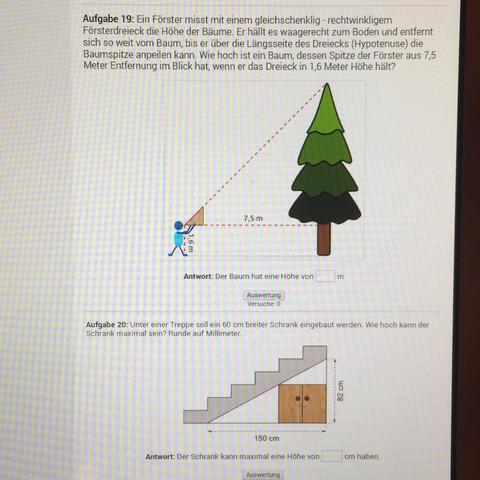 Aufgabe 19 und 20 - (Mathe, Mathematik, Dreieck)