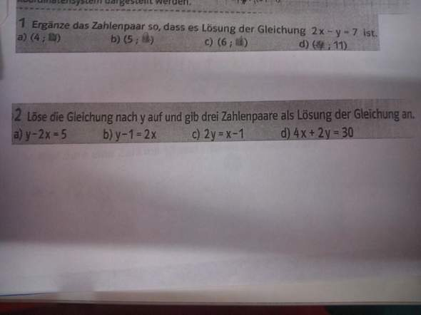 Wie sollen ich ,dass rechnen also Nr. 1 habe falsch gemacht meinte meine Lehrerin und Nr.2?