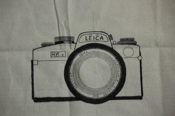 So sieht die Tasche bisher aus... - (Kamera, zeichnen, malen)