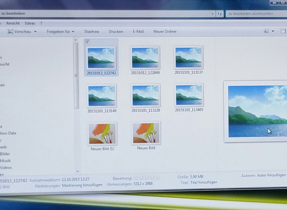 win explorer - (Windows7, vorschaubiler)