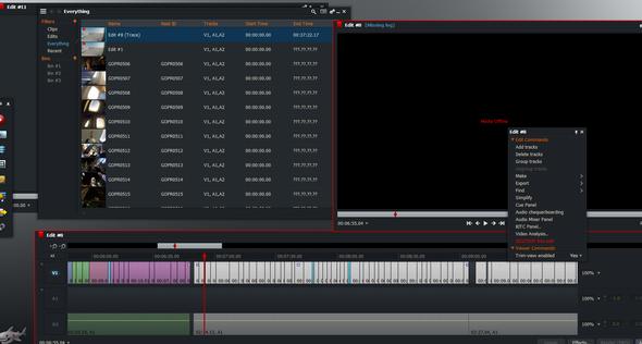 Lightworks screenshot - (Videobearbeitung, Clip, edit)