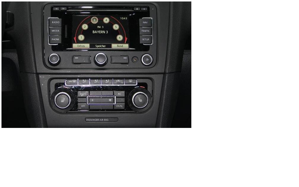 wie stelle ich beim golf 6 den radio ein auto. Black Bedroom Furniture Sets. Home Design Ideas