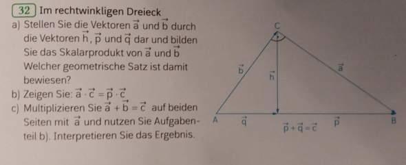 Wie stellt man Vektoren im rechtwinkligen Dreieck dar?