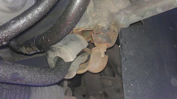 Stabilisatoraufhängung - (Auto, BMW, Rost)