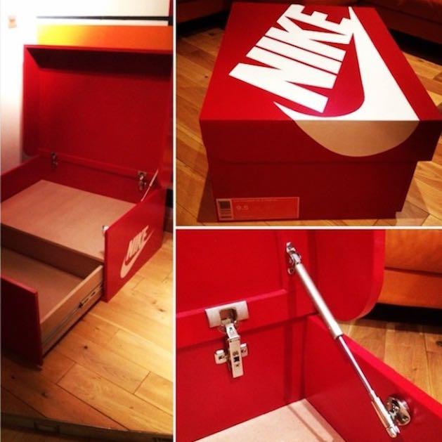wie teuer w rde diese nike schuhbox bei einem schreiner. Black Bedroom Furniture Sets. Home Design Ideas
