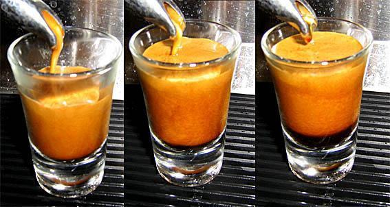 Herz bzw. Seele (schwarz) kommt von Unten langsam hoch - (trinken, Kaffee, Espresso)