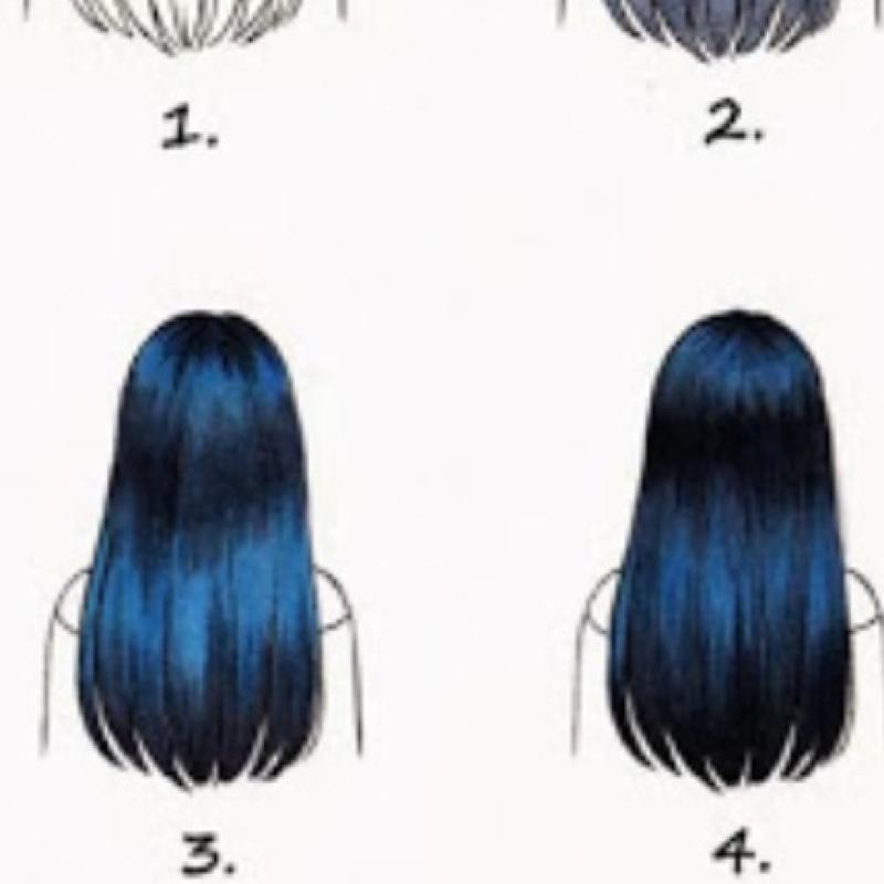 Blaue haare schwarz farben
