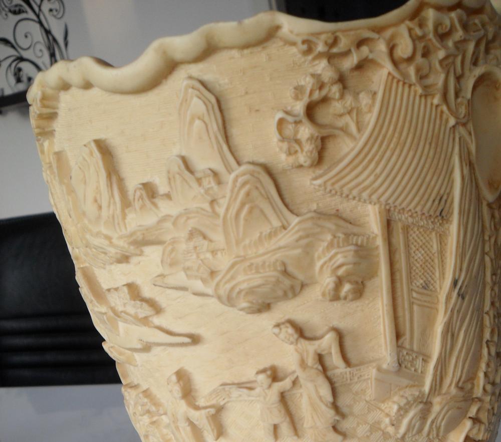 wie und woran erkennt man echtes elfenbein antike vase echtheit