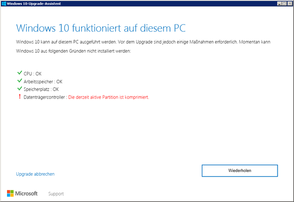 Benachrichtigung - (Windows 7, Windows 10, Upgrade)