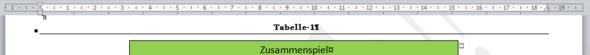 Tabellenbeschriftung unterstreichen - (Word, Rahmen)