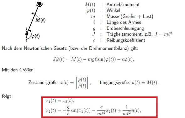 Roboterarm - (Physik, Pendeln)