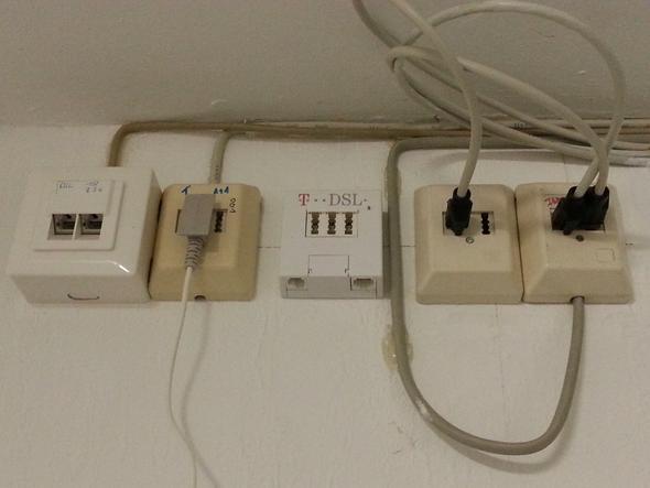 Wie verkabel ich mein Netzwerk? (Telefon, TAE)