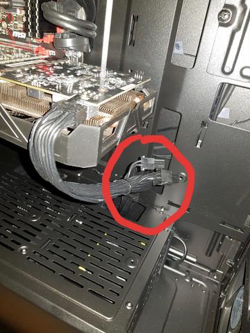 Wie versorg ich meine Grafikkarte mit Strom? Lose Kabel im gaming PC?