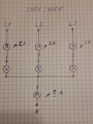 Wie viel Ampere zeigt das Amperemeter an?