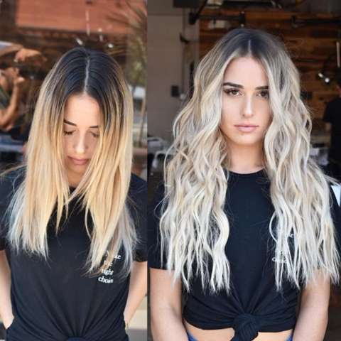 Silbershampoo auf braune haare mit blonde strahnen