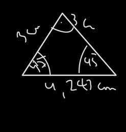 Wie viel Hoch ist das Dreieck?2,122 cm?