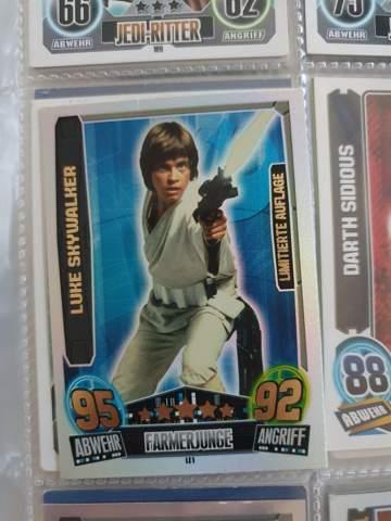 Wie viel ist die Luke Skywalker limitierte Auflage Karte von Match Attax Wert?